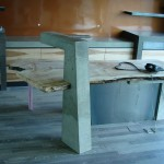 Keith Crewe Concrete and Wood Desk