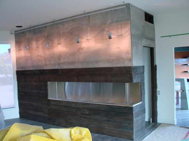 Keith Crewe Concrete and Wood Fireplace